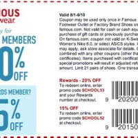 Famous Footwear Printable S In