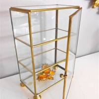 Glass Brass Jewelry Display