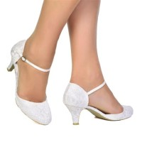 Low Heel Ivory Bridal Shoes Uk
